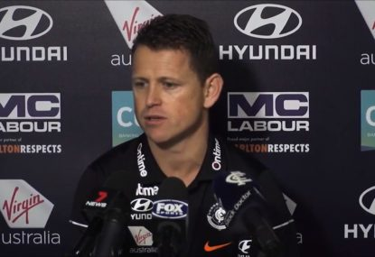 Brendon Bolton urges Blues to 'fly the flag' after lack of response to Murphy injury