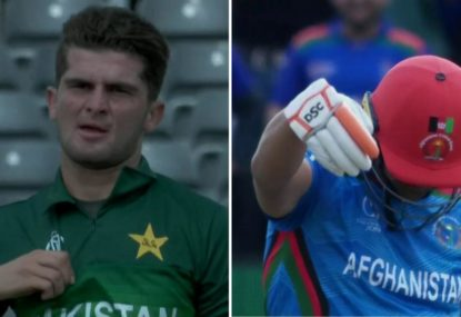 Afghanistan opener's perfect response to Pakistan paceman's sledging