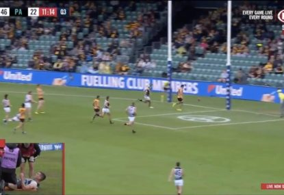 Toe-poke off the deck a stellar goal for Hawthorn