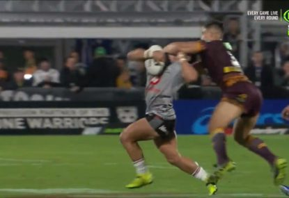 Warriors fly the flag after old teammate nearly decapitates Kodi Nikorima
