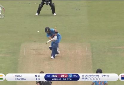 Virat Kohli has his stumps smashed in World Cup warm-up
