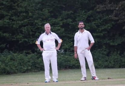 Disaster on the boundary turns veteran bowler into a double-teapot