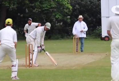 One chop-loving batsman manages to get out TWICE in two balls