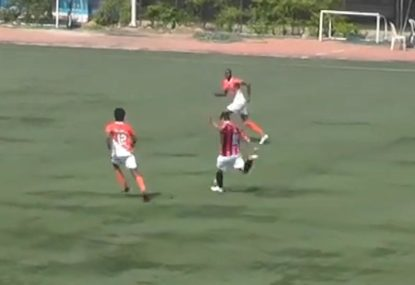 Defender commits woeful turnover that sets up spectacular worldie