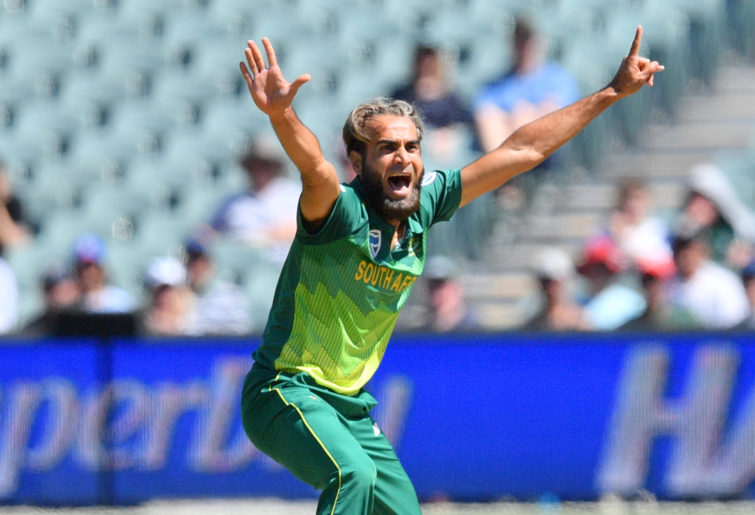 Imran Tahir of South Africa appeals