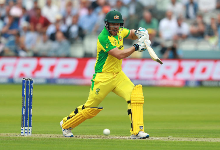 Aaron Finch batting.