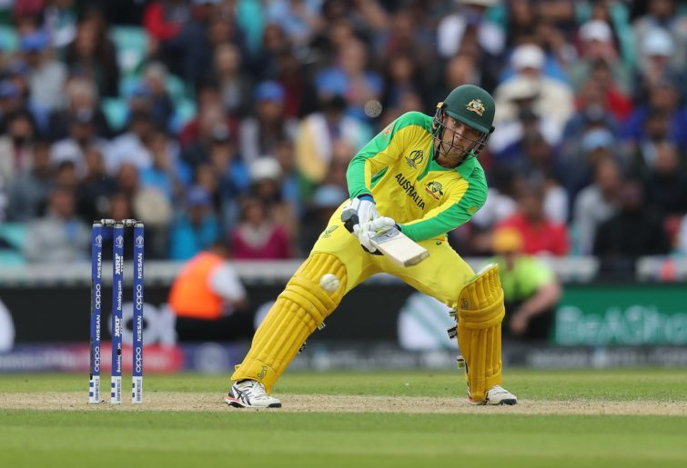 Australian cricketer Alex Carey batting
