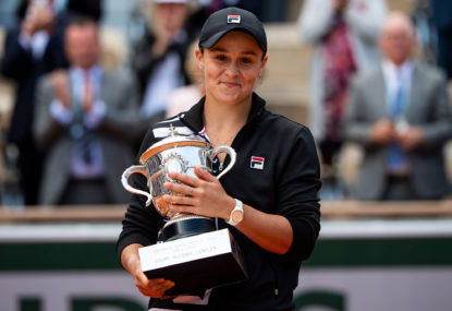 Ash Barty's cricket lessons pay big dividends