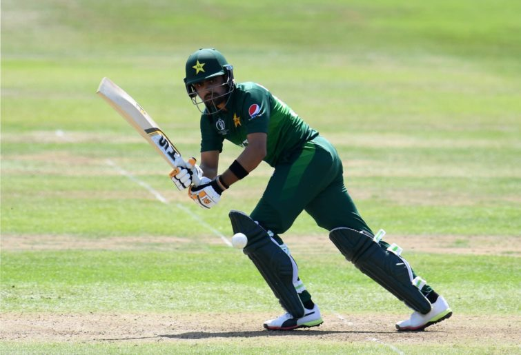 Babar Azam batting for Pakistan