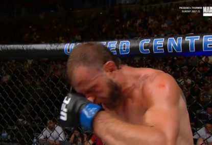 Act of blowing his nose ends UFC legend's bout