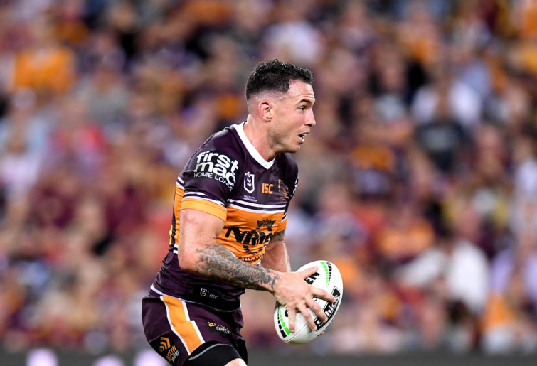 Darius Boyd playing for the Broncos