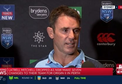 'Hardest thing I've had to do': Brad Fittler on dropping Latrell Mitchell