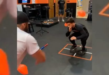 WATCH: UFC flyweight champion gives a glimpse into his unique training program