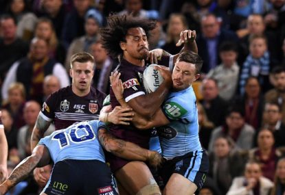 WATCH: Felise Kaufusi scores the first try of Origin 3