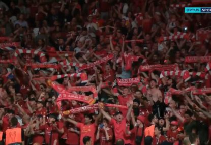 WATCH: Liverpool's epic post-champions league win rendition of 'You'll never walk alone'