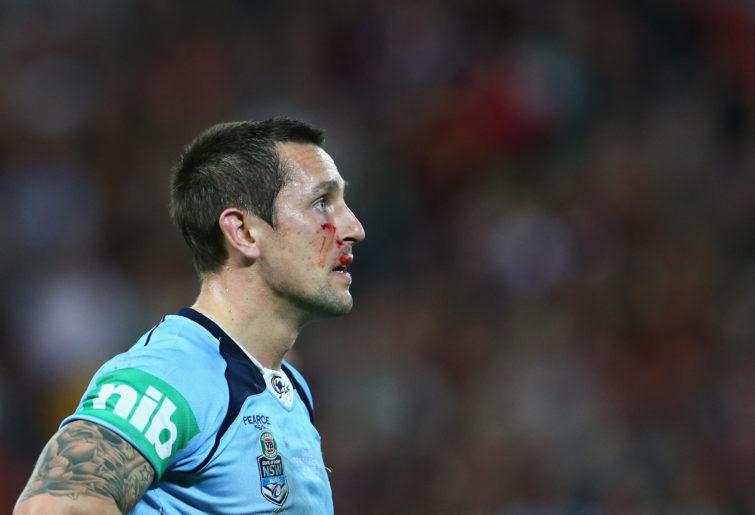 Mitchell Pearce in Origin colours