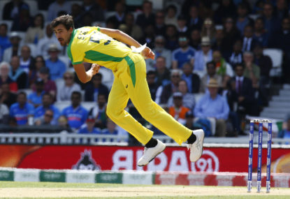 Australia survive scare to defeat Sri Lanka and go top of Cricket World Cup table