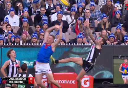 Collingwood coach Nathan Buckley calls for free kick explanation