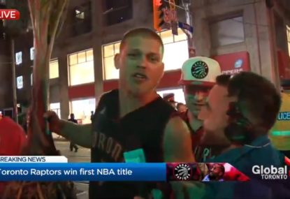 Toronto Raptors fan gives one of the most bizarre interviews we've ever seen