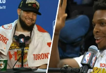 Toronto Raptors star crashes teammate's press conference