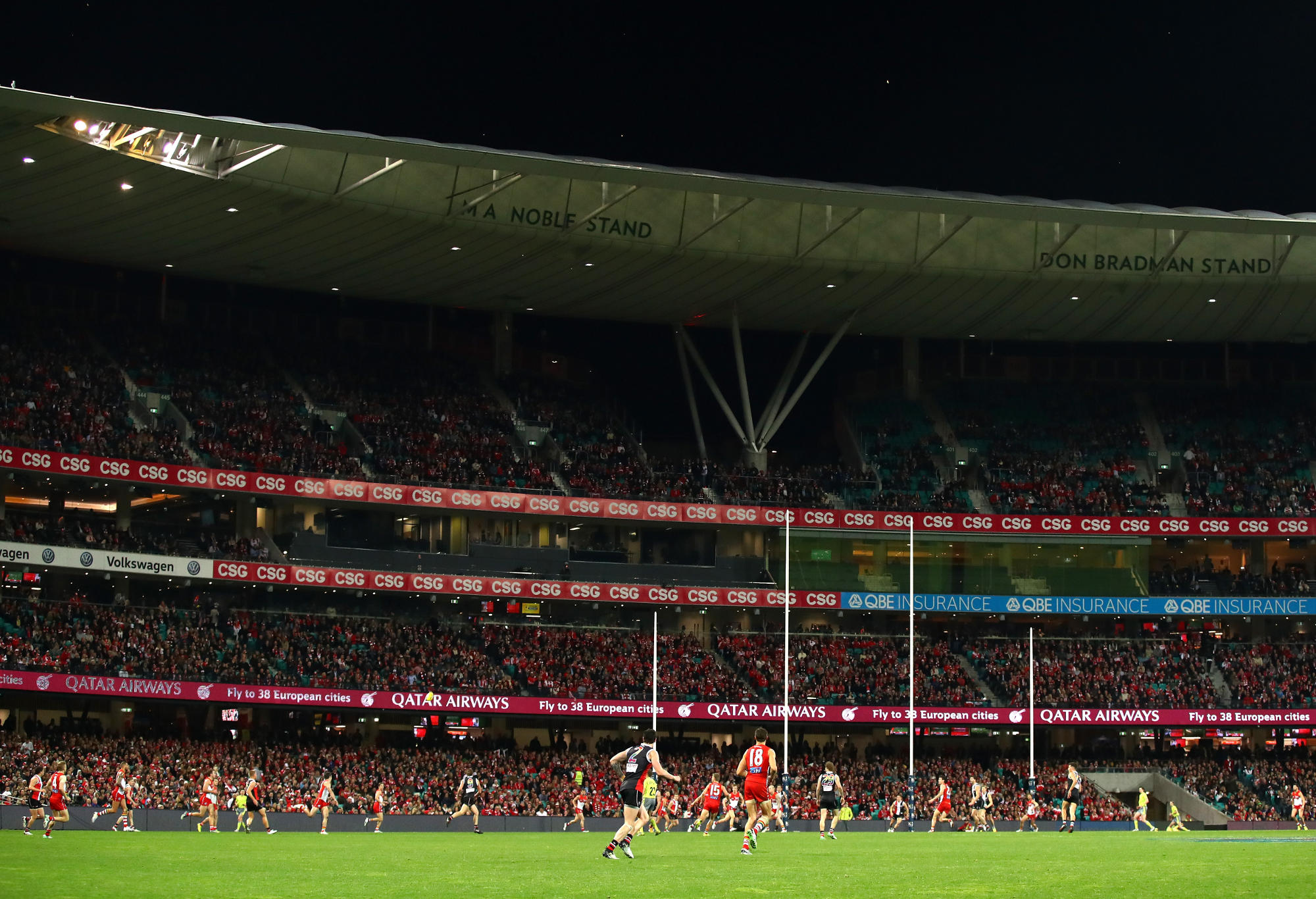 General view of the SCG during a Swans game.