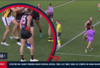 WATCH: The stomping incident that has Ben Stratton in more trouble