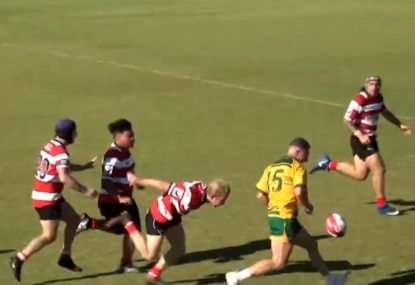 Big Boppa scores blistering try straight off opponent's linebreak fail