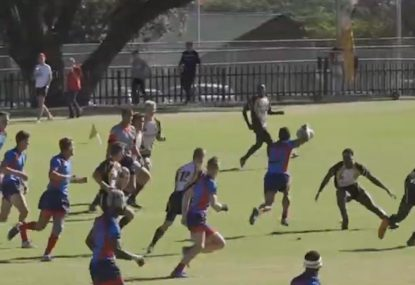 Fly-half lays on a try with the softest set of hands anyone has ever seen
