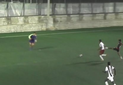 Attackers pounce on horrendous back-pass to score blunderous goal