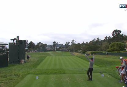 Golfer's awesome reaction to hitting US Open hole-in-one