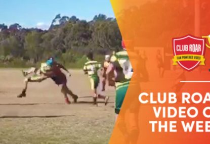 CLUB ROAR VIDEO OF THE WEEK: Ball-runner sent flying by beast's merciless hit