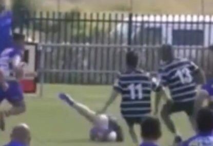 Beast swats hapless forward away like a fly in big collision