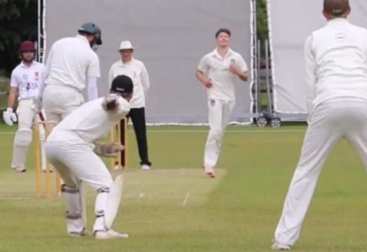 Is this the most embarrassing way for a batsman to get out?