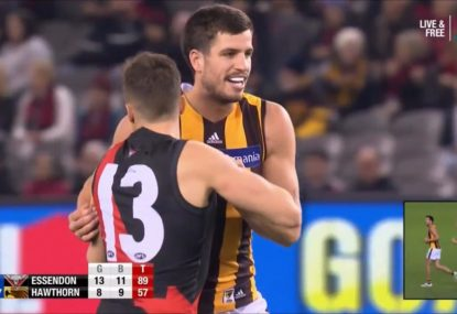 'Disgrace': Cornes calls for Hawks to suspend Stratton's captaincy over 'cowardly' pinching