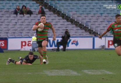 Jimmy the Jet takes off for the Rabbitohs