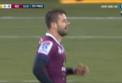 Reds flyhalf's bizarre moment against the Brumbies