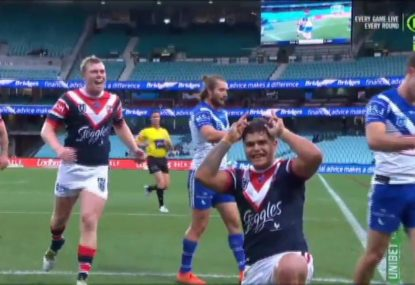 Cronk's perfect kick sets up Mitchell in the corner