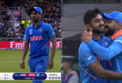 High drama as Indian quick breaks down mid-over- and his replacement snags a wicket