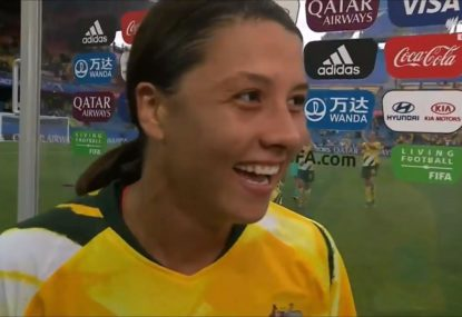 'You don't say it': Sam Kerr under fire for 'suck on that one!' comments