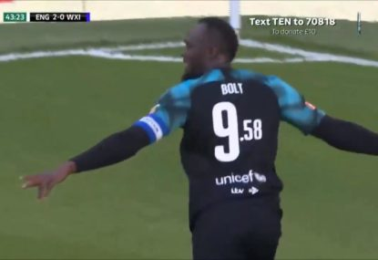 Usain Bolt shows the Mariners what could have been with delightful charity match goal