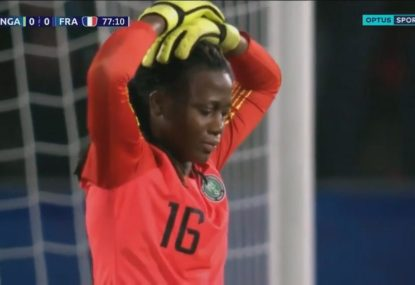 High drama as Nigerian keeper's penalty save overturned for stepping off her line