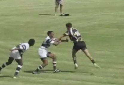 Lightning fast fly-half scoots past defenders with effortless speed