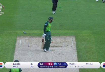 WATCH: Boult castles De Kock with early contender for ball of the tournament