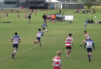 Backline throw the pill around in a sizzling kick return try