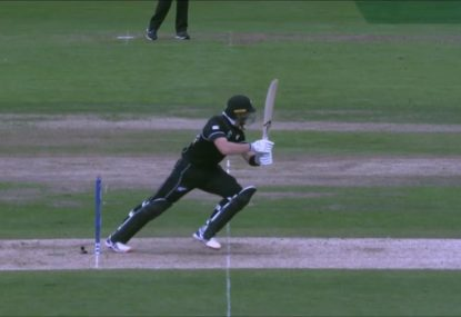 Martin Guptill submits contender for the unluckiest dismissal of the World Cup
