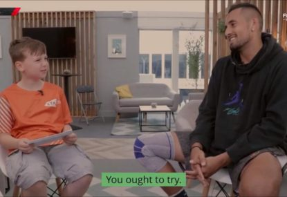Nick Kyrgios gets grilled by young reporter, is told he 'ought to try'