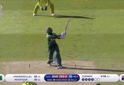 Mahmudullah crunches massive six but Australia hold on to win