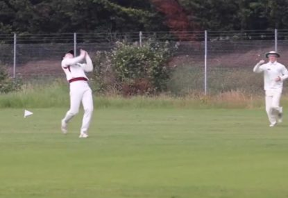 Fielder's dropped soda is textbook village cricket
