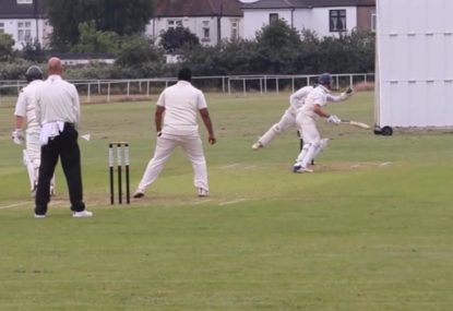 Keeper shows off lightning reflexes with brilliant one-handed stumping