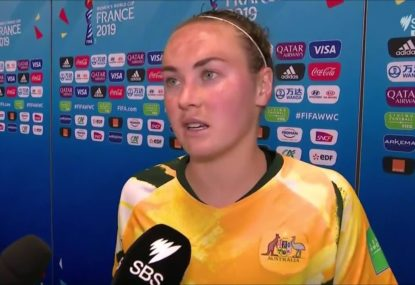 Heartbroken Matilda apologises to fans after World Cup defeat